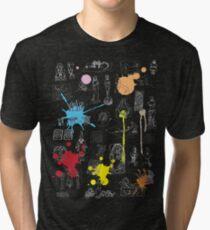 History of Art (dark tee, w/ paint splashes) Tri-blend T-Shirt