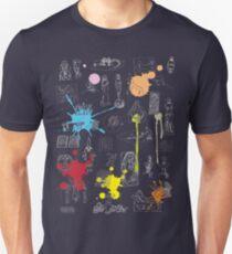 History of Art (dark tee, w/ paint splashes) T-Shirt