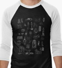History of Art (dark tee) Men's Baseball ¾ T-Shirt