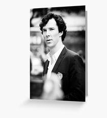 Cumberbatch B&W Greeting Card