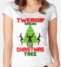 Twerk'n around the Christmas tree Women's Fitted Scoop T-Shirt