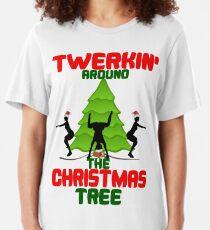 Twerk'n around the Christmas tree Slim Fit T-Shirt