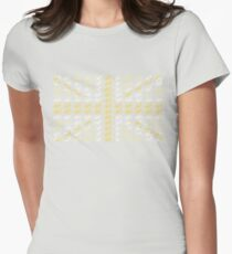 Bike Flag United Kingdom (Yellow - Small) T-Shirt