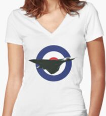 Avro Vulcan Women's Fitted V-Neck T-Shirt