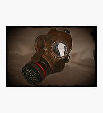 Steampunk Retro Respirator Photographic Print