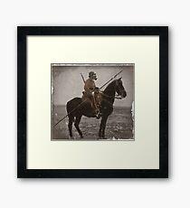 German Lancer on Horseback WWI Framed Print