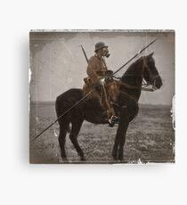 German Lancer on Horseback WWI Canvas Print