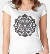 Fly Away With Me Mandala Women's Fitted Scoop T-Shirt