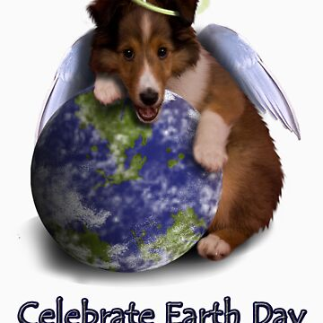 Celebrate Earth Day Angel Sheltie Puppy by jkartlife