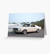 1968 Ford Mustang Fastback Greeting Card