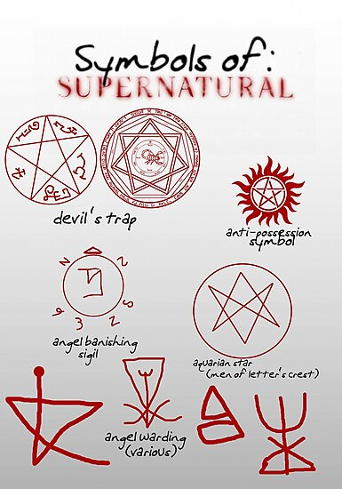 Supernatural Symbols 101 Fotodrucke Von Cherylfails Redbubble