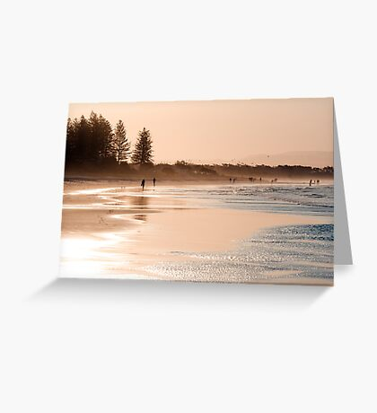 Shimmering sands - Byron sunset Greeting Card