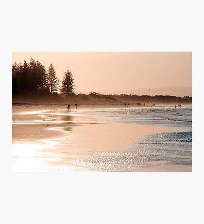 Shimmering sands - Byron sunset Photographic Print