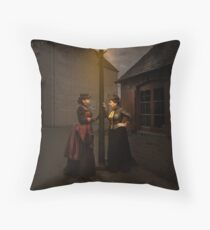 Lamp Light Ladies Throw Pillow