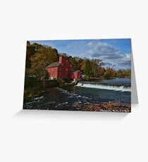 The Historic Red Mill of Clinton NJ Greeting Card