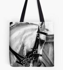 Lusitano Horse Portrait Tote Bag
