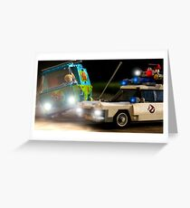Ghostbusters vs Scooby Doo Greeting Card