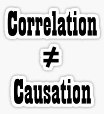 Correlation doesn't equal cuasation Sticker