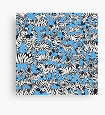 SPLASHYARTYSTORY - ALL ABOUT ZEBRAS Canvas Print