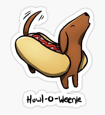 Howl-o-Weenie Sticker