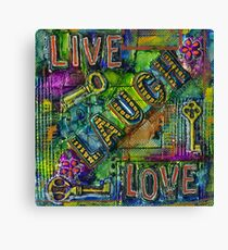 The Keys are Living Laughing Loving Canvas Print
