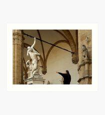 Rape of the Sabine Women Art Print