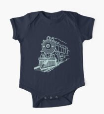 vintage train illustration Kids Clothes