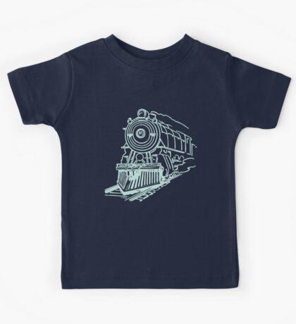 vintage train illustration Kids Tee