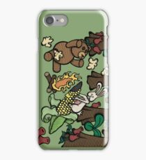Teddy Bear And Bunny - Popcorn iPhone Case/Skin