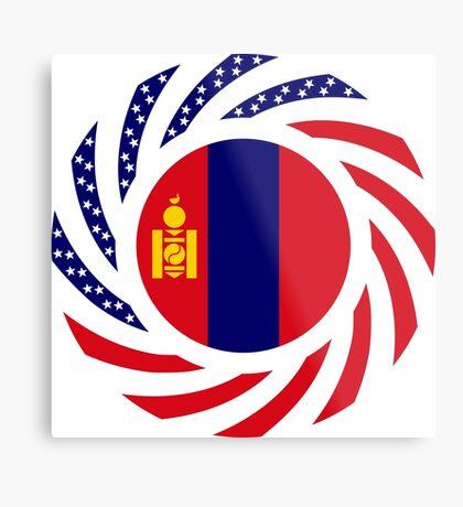 Mongolian American Multinational Patriot Flag Series Metal Print