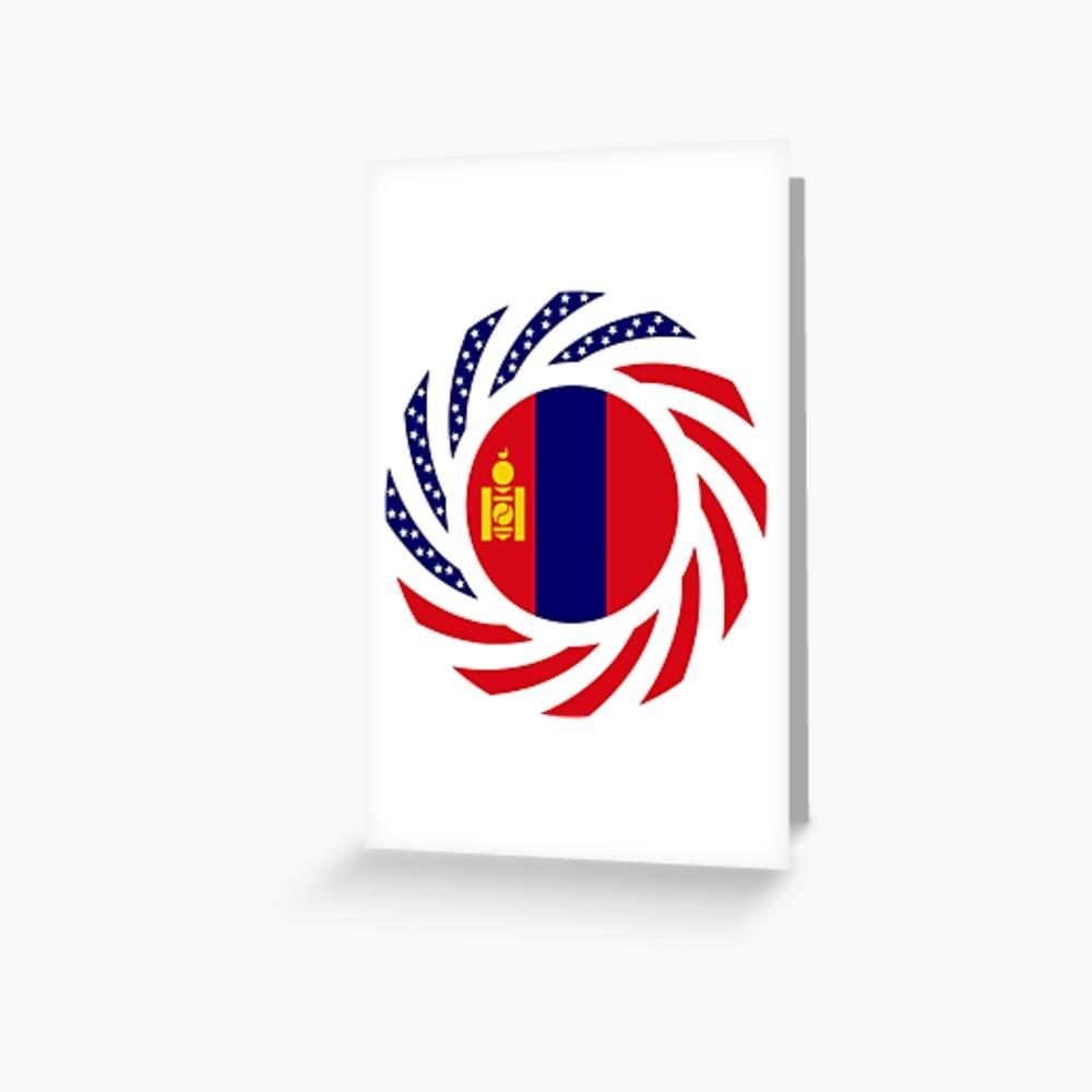 Mongolian American Multinational Patriot Flag Series Greeting Card
