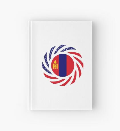 Mongolian American Multinational Patriot Flag Series Hardcover Journal
