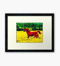 Filly & Foal Flying Framed Print