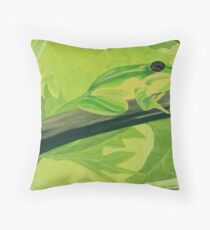 """""""Visitor in the Grapevine"""" Throw Pillow"""