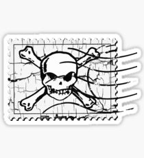 Skull Crack Stamp 3 Sticker