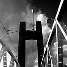 Brest - Pont de Recouvrance by Jean-Luc Rollier