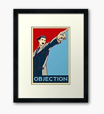 Objection - R/B Framed Print