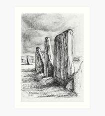 Beltany Stone Circle Art Print