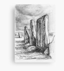 Beltany Stone Circle Canvas Print