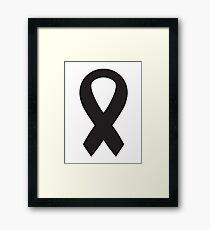 Black Bow Ribbon Framed Print