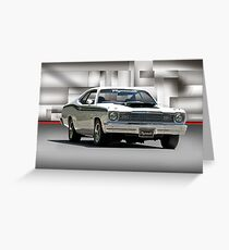 1968 Plymouth 383 Duster  Greeting Card