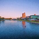 Adelaide Riverbank at Sunset   (ED) by Ray Warren