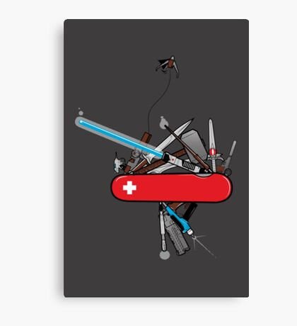 Geek Army Knife Canvas Print