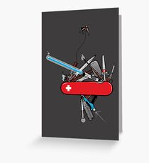 Geek Army Knife Greeting Card