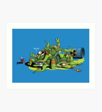 Hideously Mutated Ninja Turtles Art Print