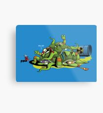 Hideously Mutated Ninja Turtles Metal Print