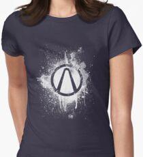 Vault Logo Splatter [V2] Womens Fitted T-Shirt