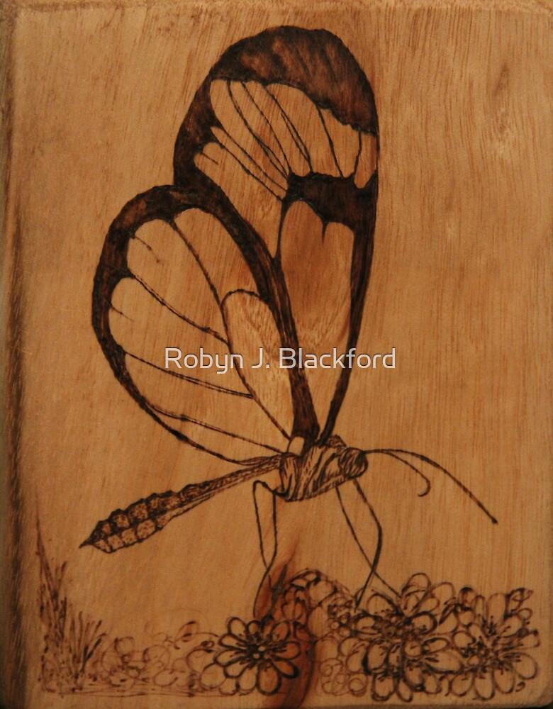 Pyrography: Glasswing Butterfly by aussiebushstick