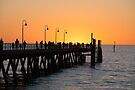 Sunset Pier II by Raymond Warren