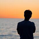Alone at Sunset by Raymond Warren